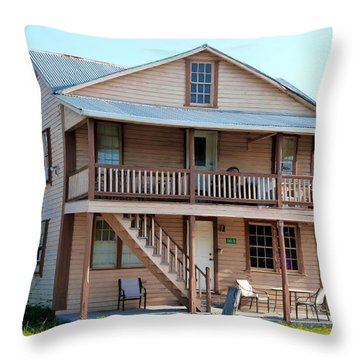 Throw Pillow featuring the photograph Bodden House by Amar Sheow