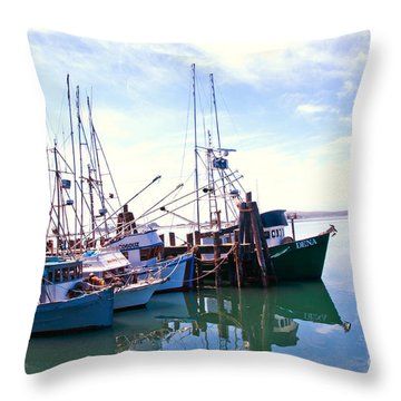 Bodega Bay Throw Pillow by Helen Haw