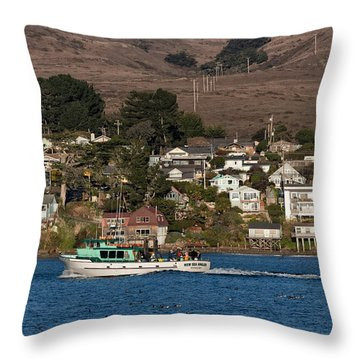 Bodega Bay In December Throw Pillow
