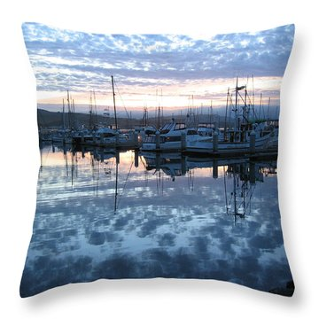 Throw Pillow featuring the drawing Bodega Bay Sunrise by Dianne Levy