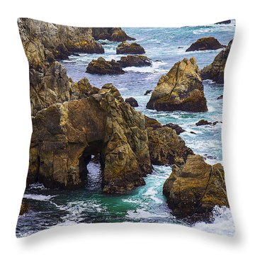 Bodega Head Throw Pillow by Garry Gay