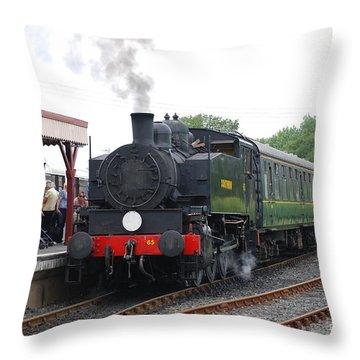 Bodiam Station Throw Pillow