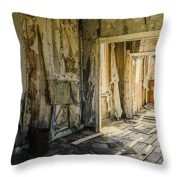 Bodie California Forgotten Ballroom Throw Pillow by LeeAnn McLaneGoetz McLaneGoetzStudioLLCcom