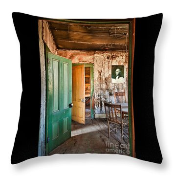 Bodie Doors Throw Pillow by Alice Cahill