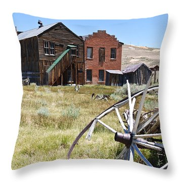 Bodie Ghost Town 3 - Old West Throw Pillow