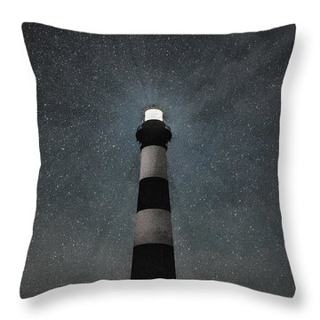 Bodie Island Light Midnight Throw Pillow