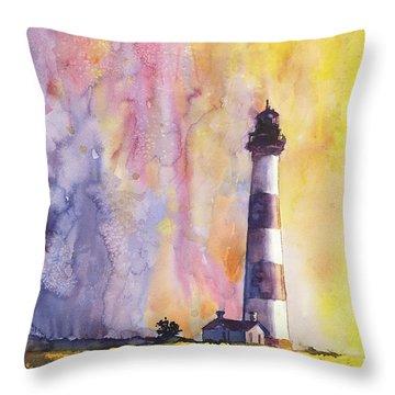 Bodie Island Lighthouse Throw Pillow by Ryan Fox