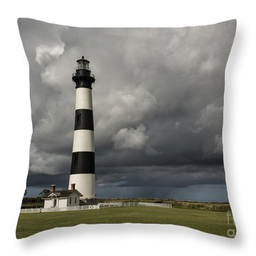 Bodie Island Lighthouse Stands Tall Throw Pillow