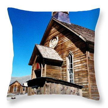 Bodie Methodist Church Throw Pillow by Barbara Snyder