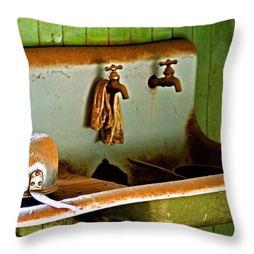 Bodie Water Fixtures Throw Pillow