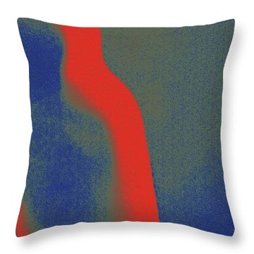 Body Waves 6 Throw Pillow by Piety Dsilva