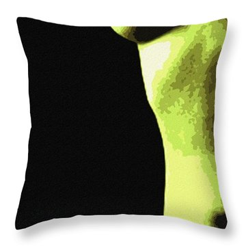 Body Waves 8 Throw Pillow by Piety Dsilva