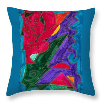Throw Pillow featuring the mixed media Body Zero # 5 by Clarity Artists