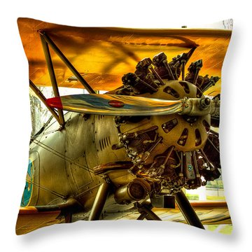 Boeing 100p Fighter Throw Pillow