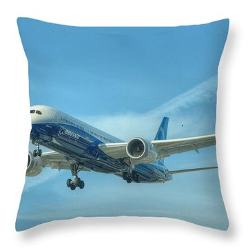 Throw Pillow featuring the photograph Boeing 787-9 by Jeff Cook