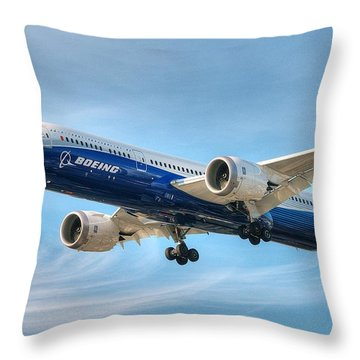 Boeing 787-9 Wispy Throw Pillow