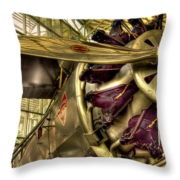 Boeing 80a-1 Passenger Airplane Throw Pillow