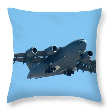 Boeing C17 Globemaster Throw Pillow