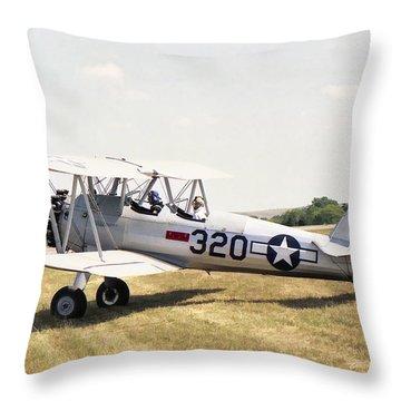 Boeing Stearman Throw Pillow
