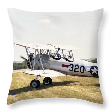 Boeing Stearman Throw Pillow