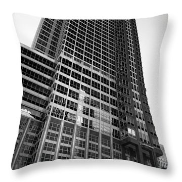 Boeing World Hq Chicago B W Throw Pillow