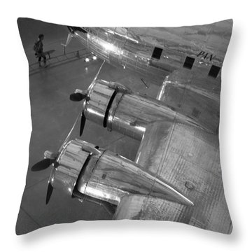 Boeing's Flying Cloud - Monochrome Throw Pillow