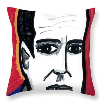 Throw Pillow featuring the drawing Bogart by Don Koester