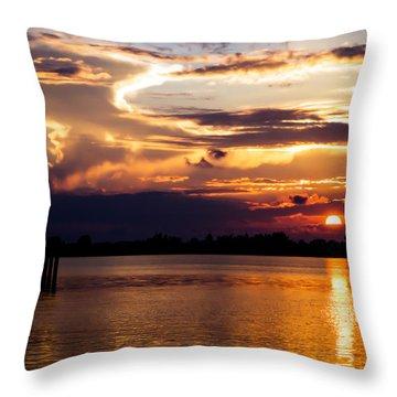 Bogart Dreams Throw Pillow by Karen Wiles