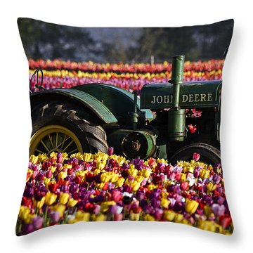 Bogged Down By Color Throw Pillow by Wes and Dotty Weber