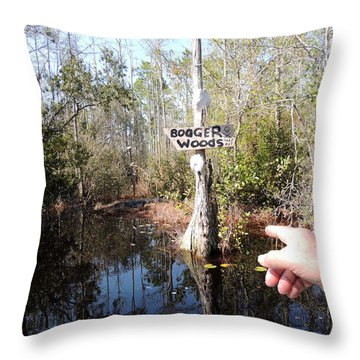 Bogger Woods Throw Pillow by Kim Pate