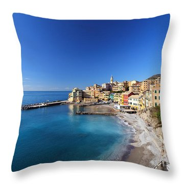 Bogliasco Village. Italy Throw Pillow
