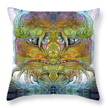 Throw Pillow featuring the digital art Bogomil Variation 11 by Otto Rapp