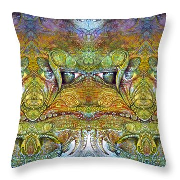 Throw Pillow featuring the digital art Bogomil Variation 12 by Otto Rapp