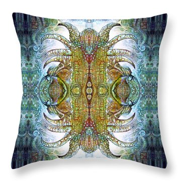 Bogomil Variation 14 - Otto Rapp And Michael Wolik Throw Pillow by Otto Rapp