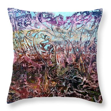 Throw Pillow featuring the painting Bogomils Vegetable Garden  by Otto Rapp