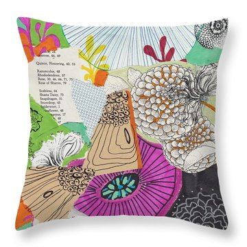 Bohemian Apple Green Floral Throw Pillow