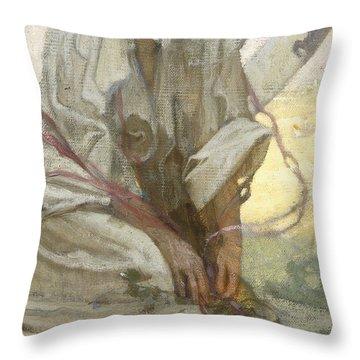 Bohemian Sun Dreamer Throw Pillow by Alphonse Marie Mucha