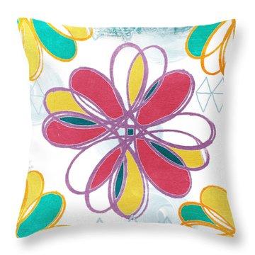 Boho Floral 2 Throw Pillow