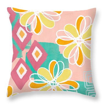 Abstract Flower Throw Pillows