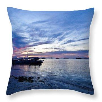Bohol Sunrise Throw Pillow