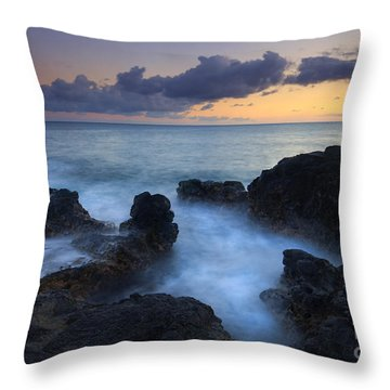 Boiling Sea Throw Pillow by Mike  Dawson