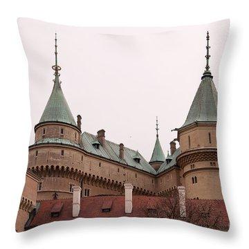 Throw Pillow featuring the photograph Bojnice Castle by Les Palenik