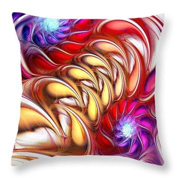 Bold Colors Throw Pillow by Anastasiya Malakhova