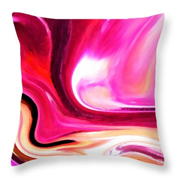 Bold Pink Abstract Throw Pillow by Carol Groenen