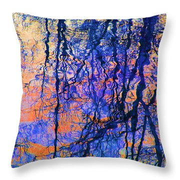 Bold Tree Reflections Throw Pillow