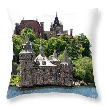 Boldt Castle And Powerhouse Throw Pillow by Rose Santuci-Sofranko
