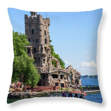 Boldt Castle Throw Pillows