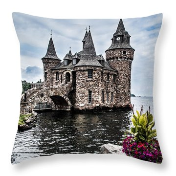 Boldt's Castle Tower Throw Pillow by Debbie Green