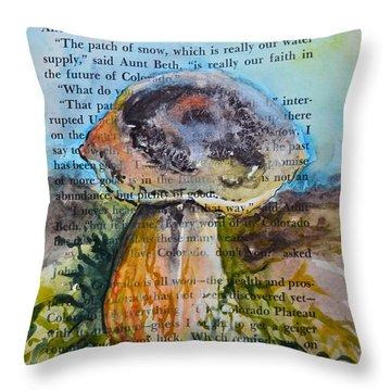 Boletus Edulis Throw Pillow by Beverley Harper Tinsley