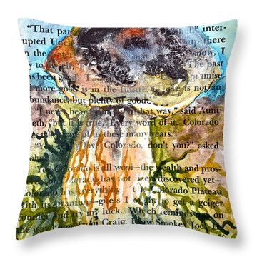 Boletus Edulis Close Up Throw Pillow by Beverley Harper Tinsley